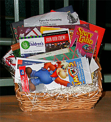 Gift card basket gift card ideas card giveaway basket gift california delicious easter basket steve wronker s funny business comedy hypnosis shows 1 800 929 7932 negle Images